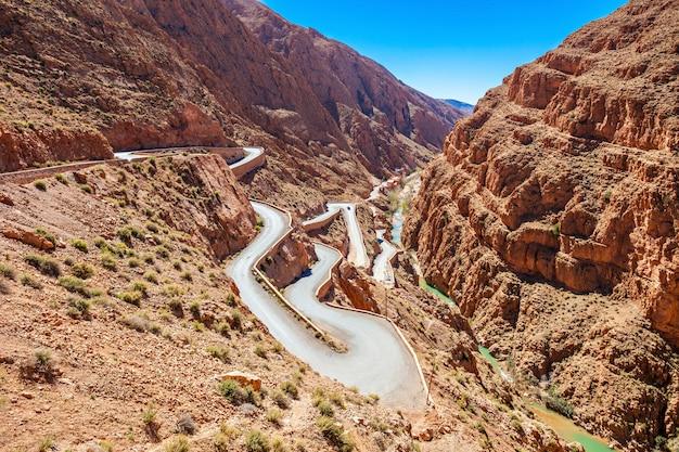 ダデス渓谷、モロッコ