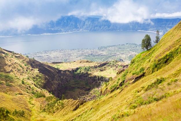 バトゥール火山の内部