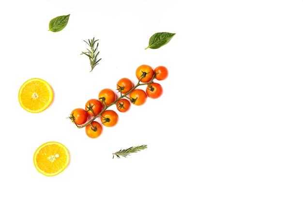 夏の果物と野菜のパターン