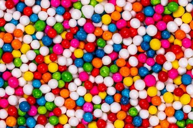 Разноцветные сахарные шарики