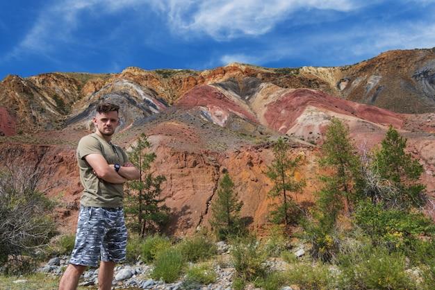 火星の谷の風景