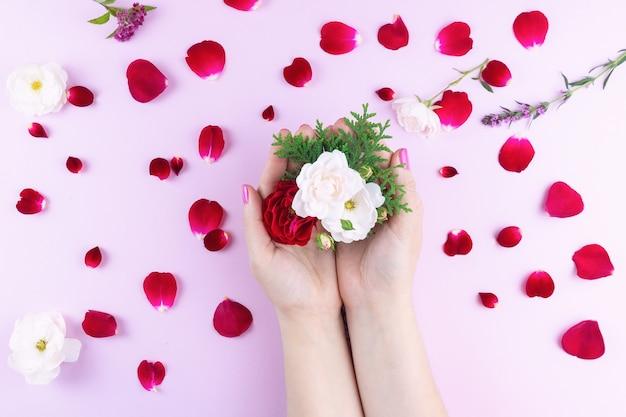 化粧花と美しさの手