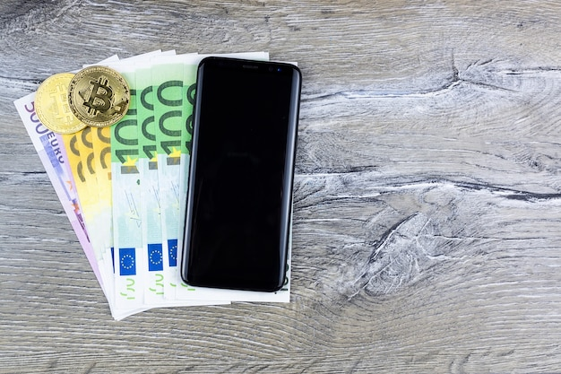 Смартфон биткойны евро
