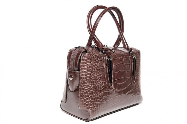 Женская кожаная сумка коричневого цвета