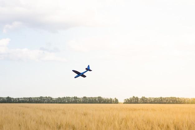 Самолет падает в поле