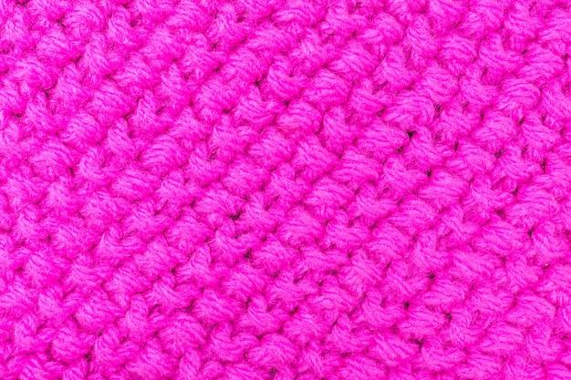 ピンク色のテクスチャ編み