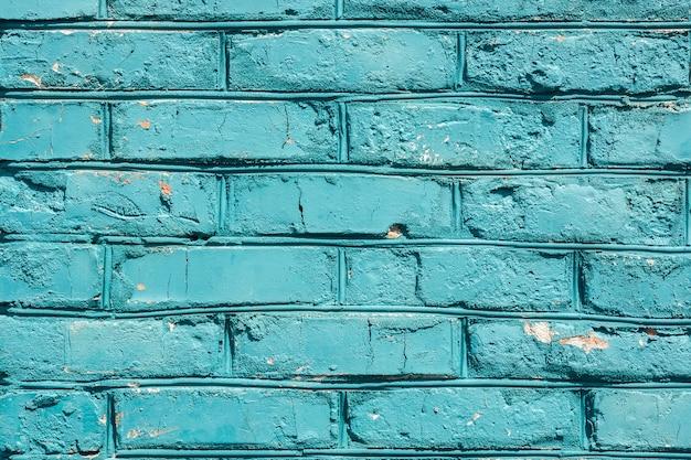 青いレンガの壁のテクスチャ