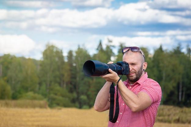 自然の中の写真家