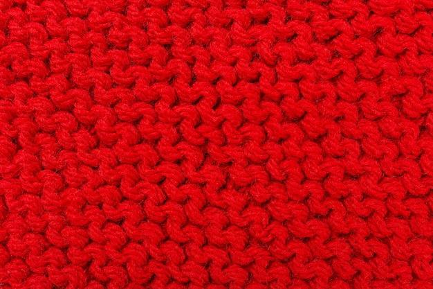 赤い色のテクスチャ編み