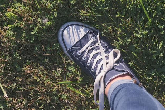 ための半靴の背景。余暇の概念