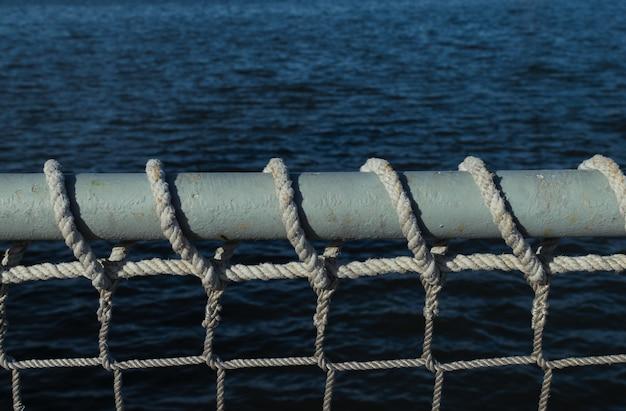 テキスト用のスペースと海上または船員の背景