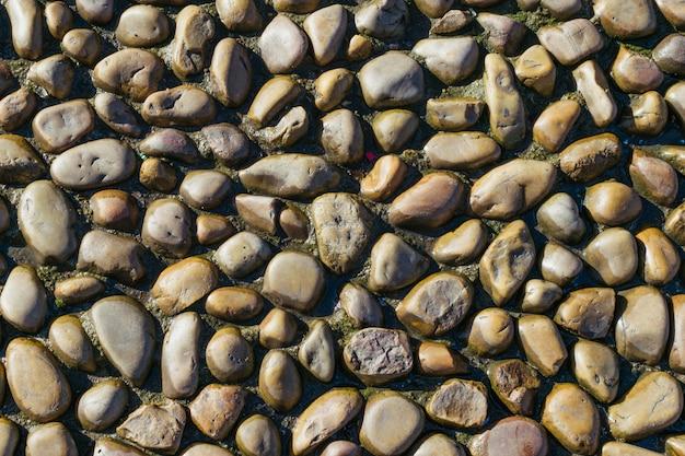 小石の背景。岩石試験壁ボード