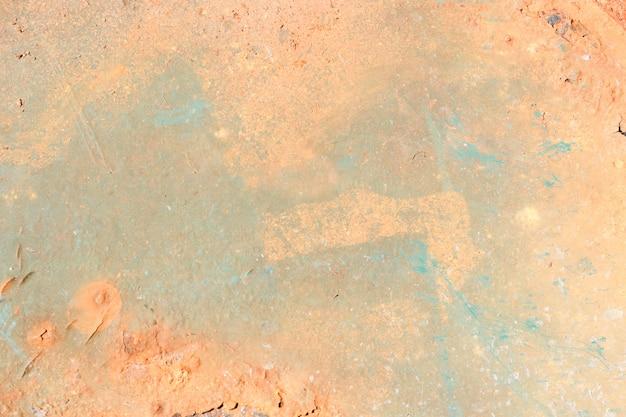 Старая краска на ржавой металлической текстуре. копировать пространство