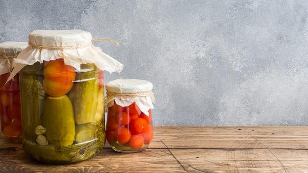 缶詰の自家製缶詰野菜
