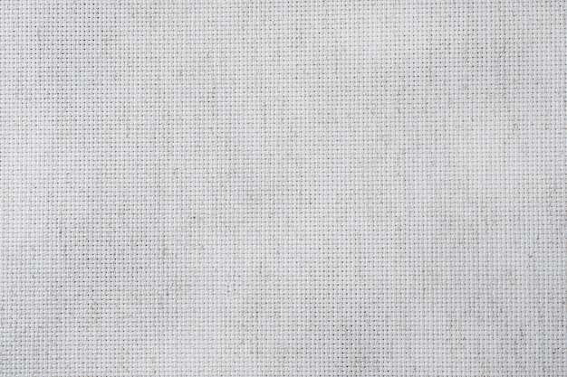 クロスステッチクラフト用の布キャンバス。コットン生地の風合い。