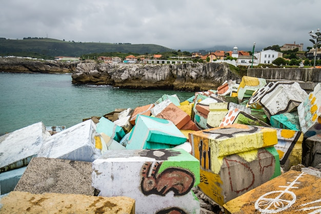スペインの海辺の村