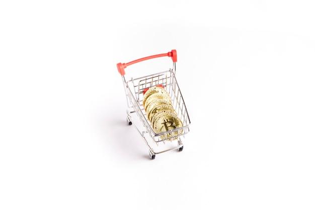 ショッピングカートにビットコイン金貨