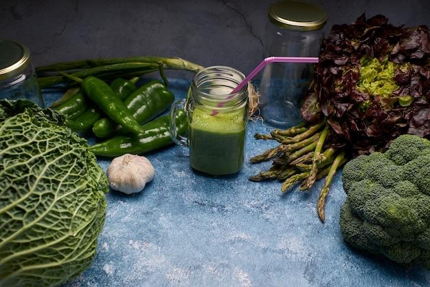 新鮮な野菜のビュー