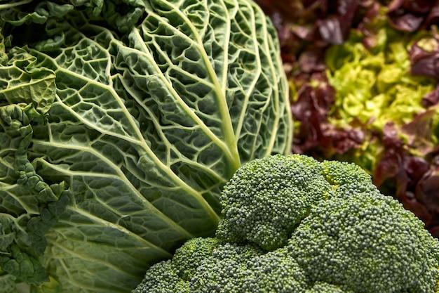 新鮮な緑の野菜の眺め