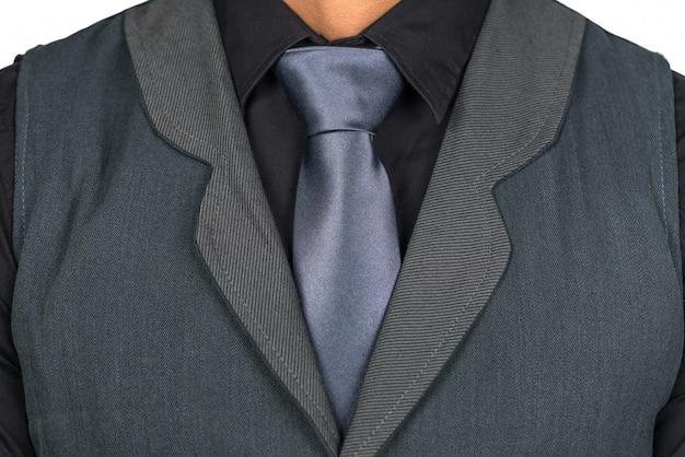 ネクタイを持つ男