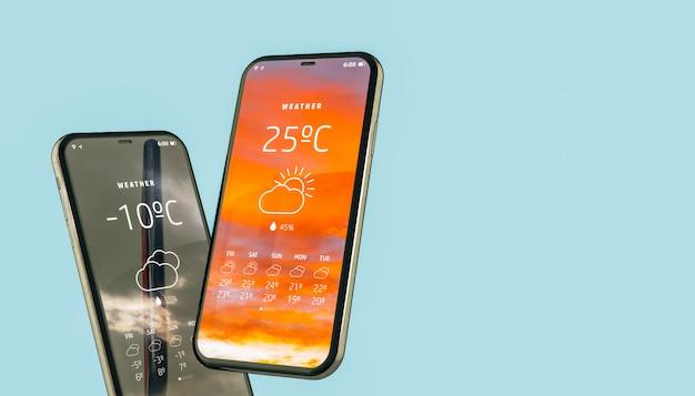 モバイルでの天気の応用。