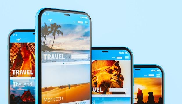 モバイルデバイス上の旅行代理店アプリケーション
