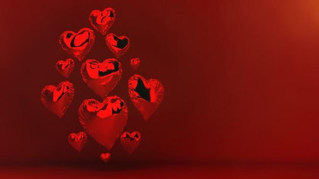 Сердечные воздушные шары на день святого валентина
