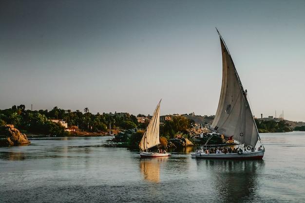 ナイル川のヨット