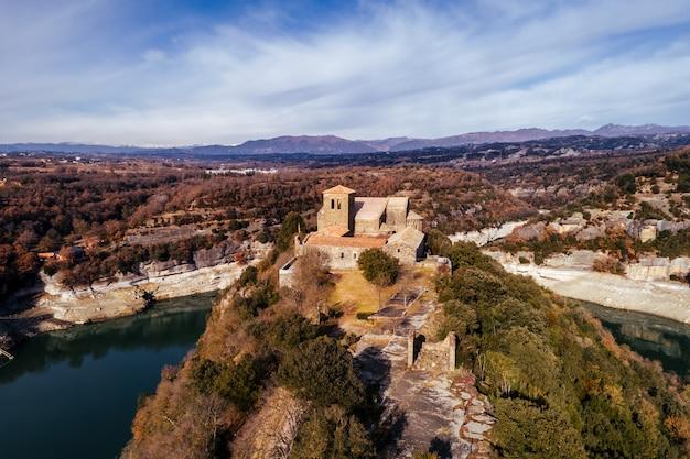 修道院の空撮
