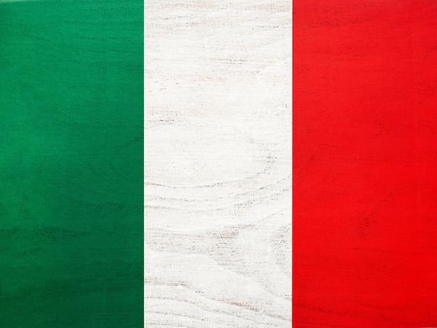 Итальянский флаг. красивая открытка. закрыть
