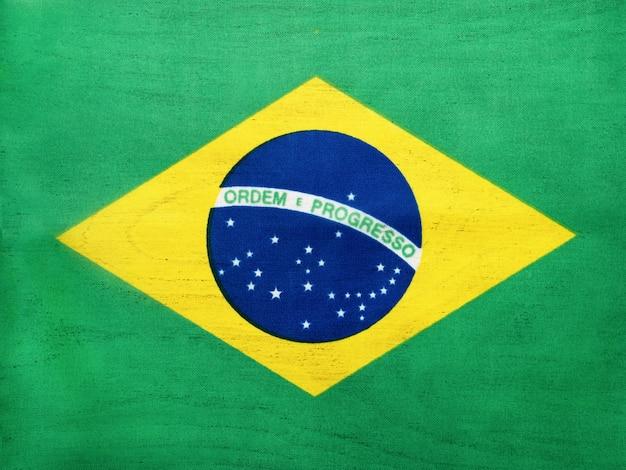 ブラジルの旗。美しいグリーティングカード。閉じる