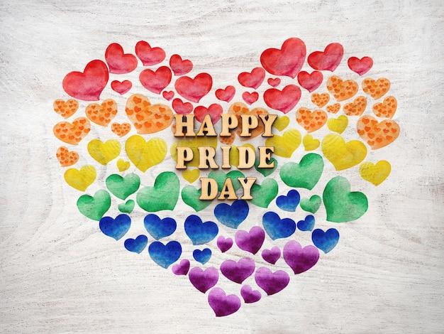 Счастливый день гордости текст с радугой сердца