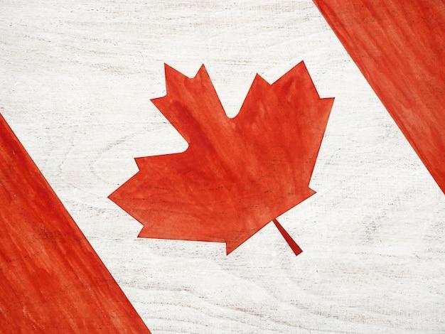 カナダの旗の美しい絵。閉じる