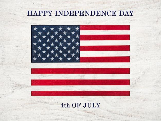 幸せな独立記念日。美しいグリーティングカード。閉じる