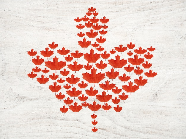 Красивый рисунок канадского флага