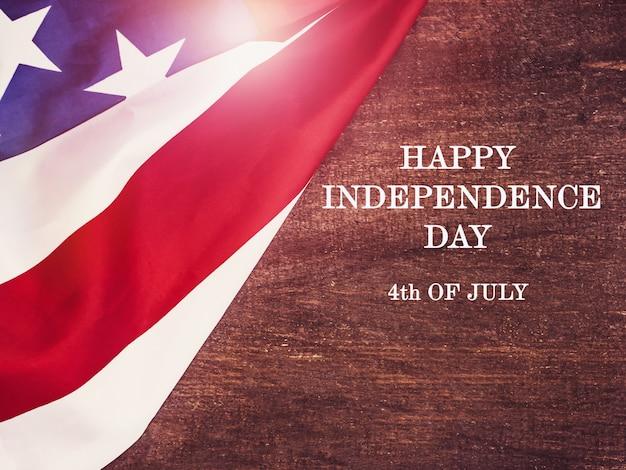 幸せな独立記念日。美しいグリーティングカード。