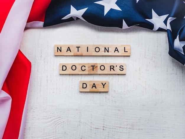 幸せな国民医師の日。美しいカード孤立した背景