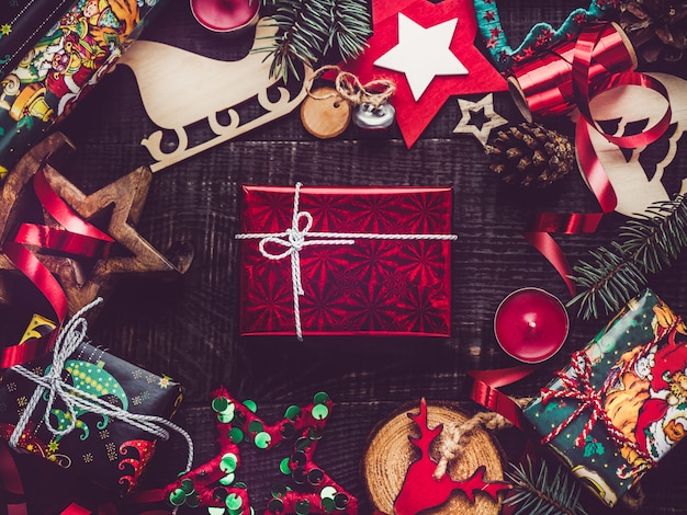 クリスマスの装飾のトップビュー