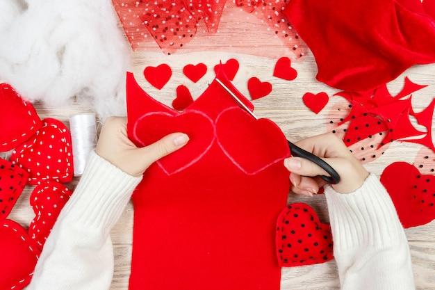 バレンタインデーのスクラップブック