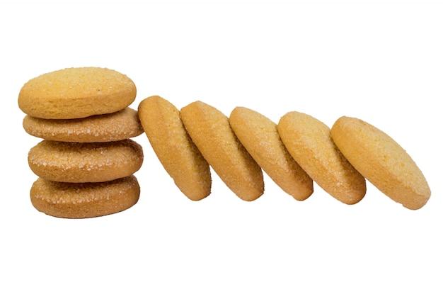 分離されたコーンクッキー