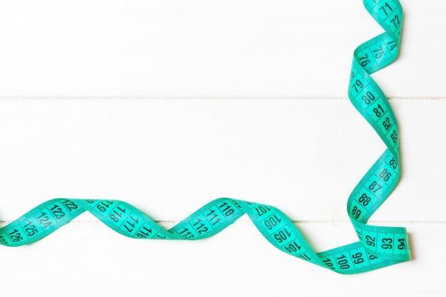 フレームの形で測定テープの平面図