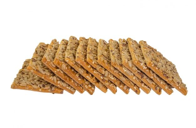 Хрустящий хлеб с семечками подсолнечника, льна и кунжута