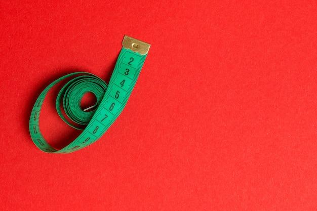 コピースペースでスパイラルに削減メジャーテープの平面図