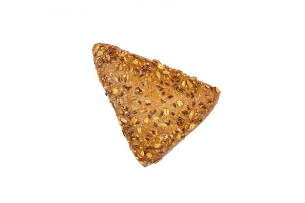 ひまわりと亜麻の種子をまぶしたライ麦の三角形のパン