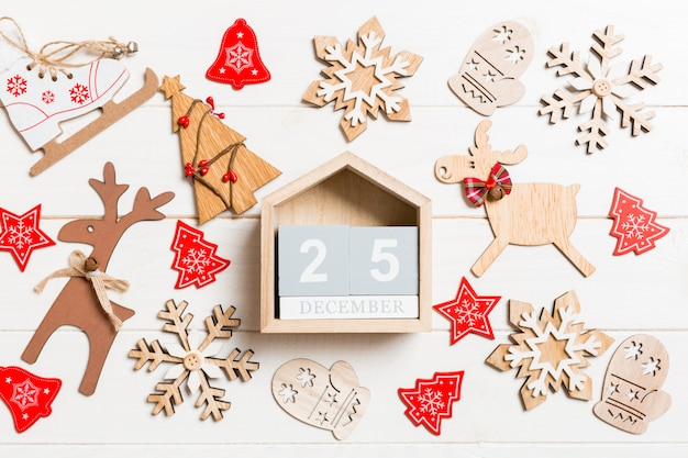 木製クリスマスカレンダーの平面図です。