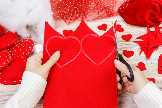 Валентина подарок в праздничном оформлении, копия пространства для дизайна