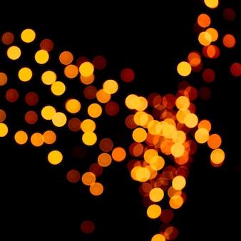 やり場のない抽象的なオレンジボケライト