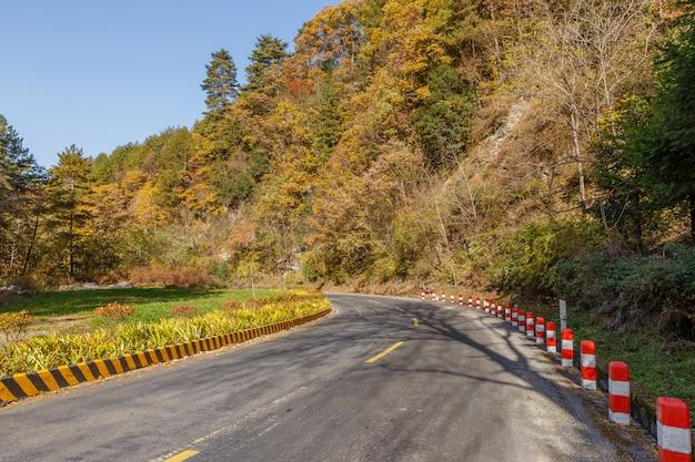山のアスファルト道路