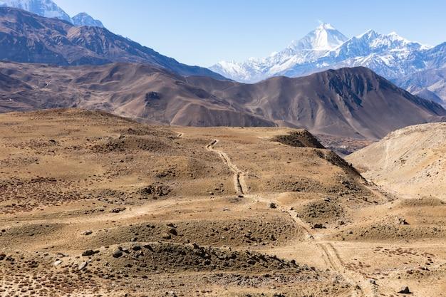 ネパールのヒマラヤ山脈。