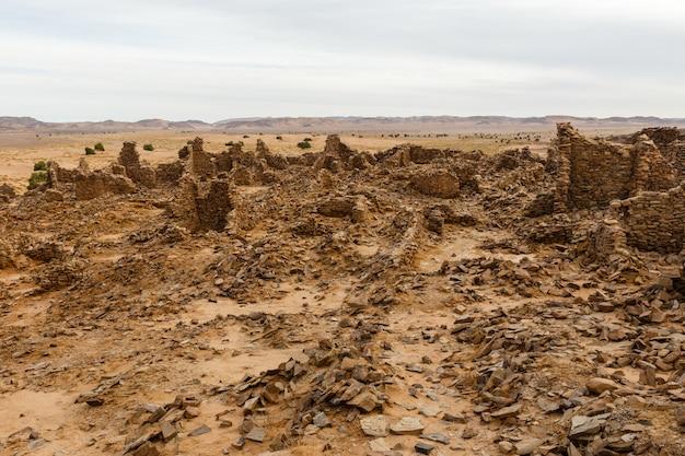 古代の町の遺跡
